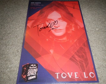 Tove Lo signed poster 11x17