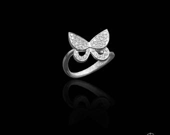 silver butterfly the ring