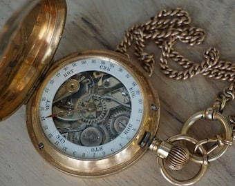 Pocket watch Monnard 14k gold