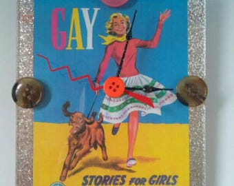 Vintage Novel Acrylic Wall Clock, Gay Stories For Girls,  Handmade Clock, Gay, Lesbian, Acrylic Wall Clock, Made By Mod.