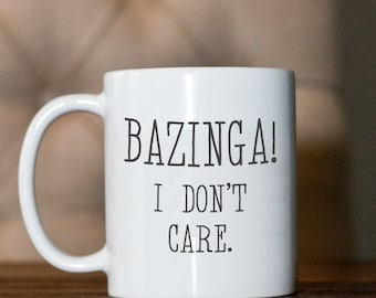 Coffee mug- Big Bang Theory- Sheldon-BAZINGA!