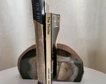 Agate naturelle Vintage serre-livres serre-livres cristal