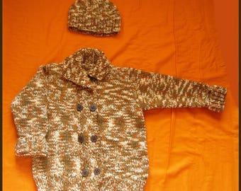 Brown vest and Hat 6 set