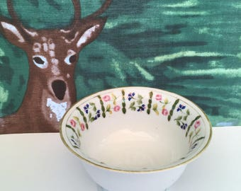 Nippon Hand Painted Pedestal Bowl