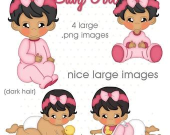 Baby Girl 1 - Digital Scrapbook Images Paper Craft Images