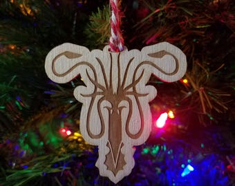 Greyjoy Ornament - Game of Thrones Ornament - Holiday Decor - We Do Not Sow - Drowned God Game of Thrones Christmas - Theon Greyjoy