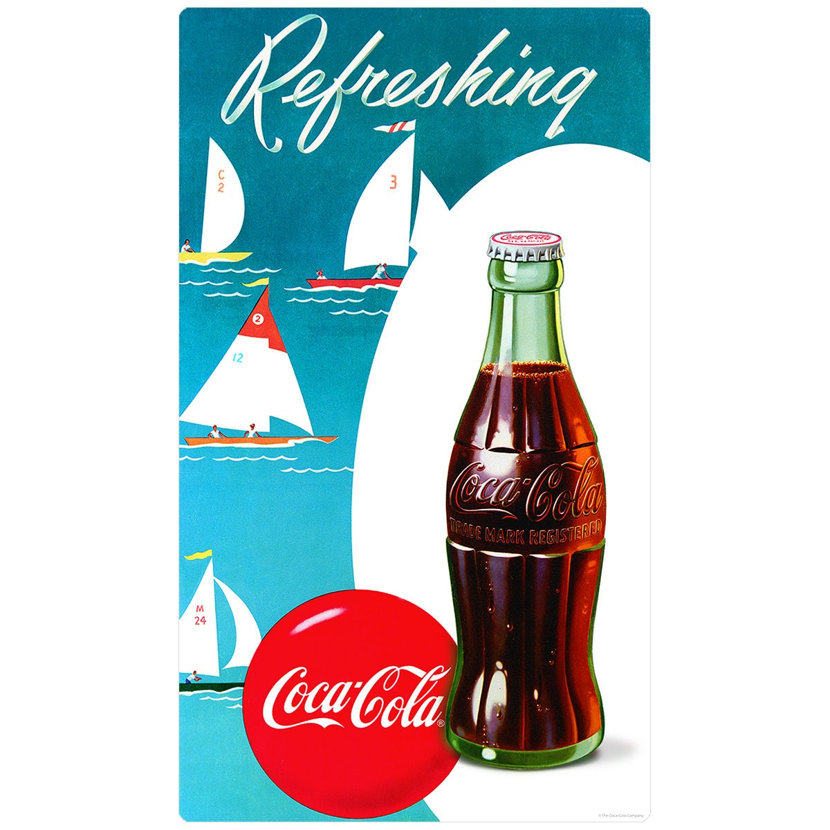 Coca-Cola Refreshing Sailboats Wall Decal 158534