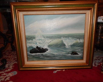 ORIGINAL SEASCAPE OIL Painting by Neville