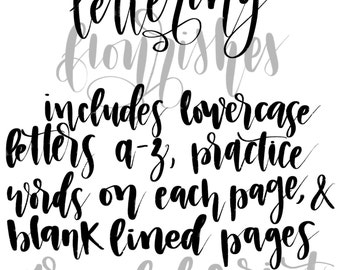 50% OFF~Lettering Practice with Flourishes