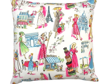 Vintage, French, Parisian Fashion, Haute Couture, Cushion Cover, Pillow, Present, Gift