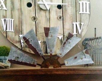 Metal windmill half 30 inch  - Farmhouse decor- rustic decor-vintage decor-home accents-home goods-gift