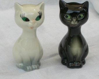 Salt and Pepper Shakers - Cats - Goebel - Vintage