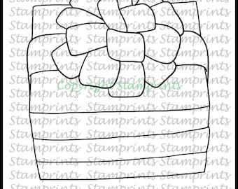 Gift Box (TLS-1814) Digital Stamp. Cardmaking.Scrapbooking.MixedMedia.