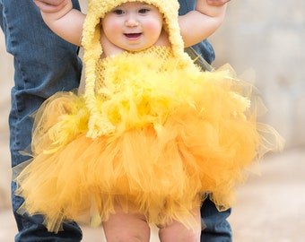 Baby Chick Hat - Yellow Chicken Hat - Baby Hat -  Easter Chick Hat -  Chicken Hat - Soft Baby Costume Hat - by JoJosBootique