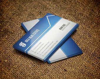 Printable Real Estate Business Card |  Business Card Template | Card Template | Photoshop Template | Instant Download Vol.1