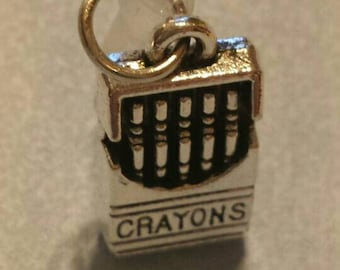 Crayons Cell Phone Dust Plug Tibetan Silver Charm All Phones Box of Crayons