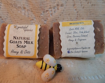 Honey and Oats Goats  Milk  Soap
