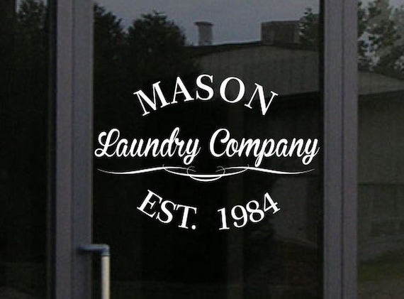 Custom Storefront Decal - Your Business Name and Information in this design - Business Window Vinyl Decal Sticker Graphic - Window Decal