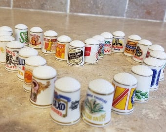 Franklin Mint 1980 Thimble Advertising Set of 25  for  45.00