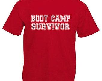 Boot camp survivor children's kids t shirt