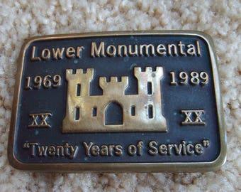Buckle, Service Buckle., Lower Monumental Belt Buckle