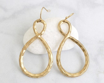Gold Infinity Earrings , Gold Earrings, Infinity Earrings,Bridesmaid Earrings-2065