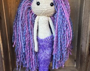 Crochet Mermaid Amigurumi Doll