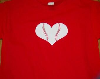 Baseball Tee-Heart Baseball