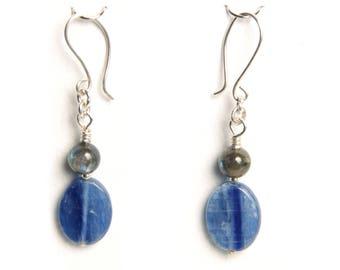 Kyanite and Labradorite Earrings