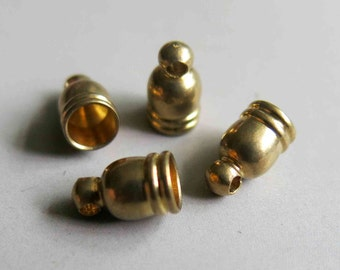 50pcs Raw Brass Cap For Tassel, Findings 9.5mm x 5.5mm - F133
