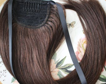 """16"""" Wrap around-Human hair Ponytail , 100% Human hair extensions / 16 inches."""
