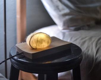 Pebble Stone   Night Light   Wooden   Wool felt   Handcrafted   Led Light   USB Plug
