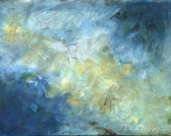 Galactic (Mixed Media Original on Canvas, 48x36)