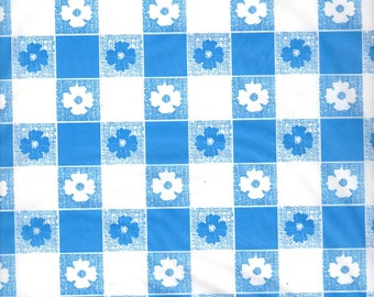 Blue And White Gingham Table Cover Tablecloth Plastic 54 X 108 (2 Pieces)