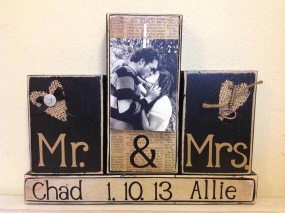Mr Mrs Wedding Gifts: Items Similar To Wedding Gift Wedding Custom Sign Mr And