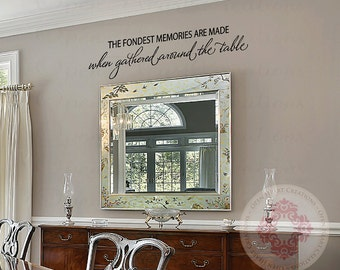 The Fondest Memories Are Made When Gathered Around Table Wall Decal