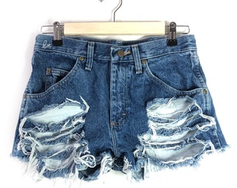 Distressed jean shorts/high waisted Distressed Cut off Shorts/All Sizes/All Washes/S-XXL/cheeky Shorts/Frayed Edges