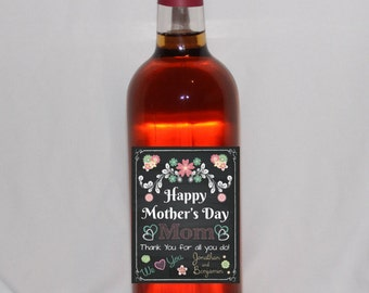 Personalized Mother's Day Wine Labels, Mother's Day Gift, Personalized Mother's Day Gift