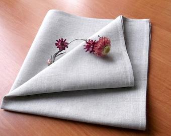Cloth table napkins bulk Light grey linen cotton blend fabric serviette natural reusable dinner table linens 18 inch square