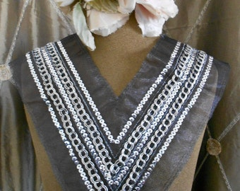 Silver Sequined Appliques
