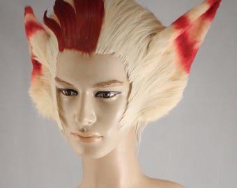Rakan from League og Legends cosplay wig + ears