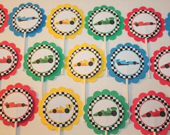Racecar Cupcake Toppers