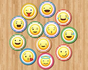EmojiPrintable Cupcake Topper, EmojiParty Supplies, EmojiCake Topper, EmojiBirthday Party   REP_CUPCAKE 1