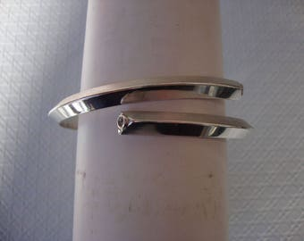 Hand-crafted Sterling Silver triangular coil bracelet