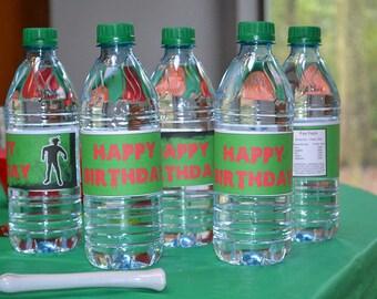 Zombie Birthday Water Bottle Label, Halloween Water Bottle Label, Undead Party  Labels, Zombie Party Decor, Zombie Printable, Zombie Favors