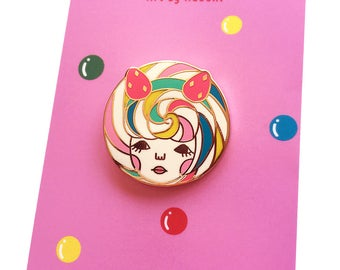 Hard Enamel Pin -Lollipop Girl-