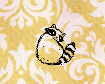 Racoon Stamp: Wood Mounted Rubber Stamp