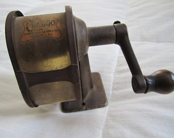 Antique Chicago Hand Crank Wall Mount School Pencil Sharpener, from the 1920's