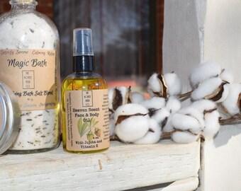 Heaven Scent - Face and Body Oil with jojoba and vitamin E     4oz