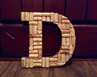 Custom Wine Cork Letter A-Z